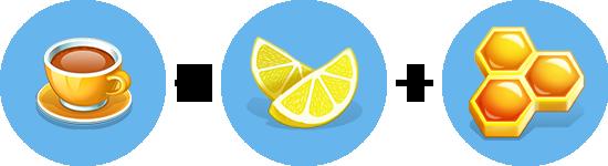 Чай с медом и лимоном